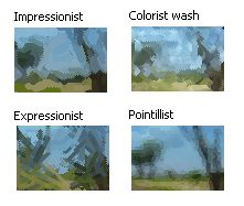Photo editor example: Paint effects (after)